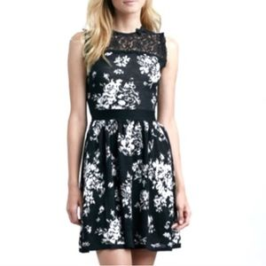 RED Valentino Floral Bow Sleeveless A-Line Dress